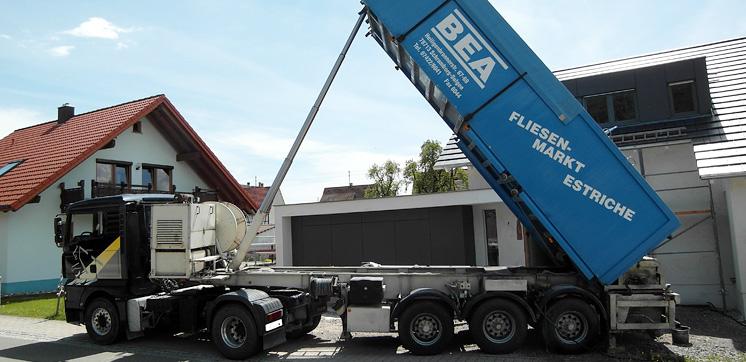 Spezial-LKW für Estrich-Arbeiten